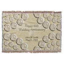 50th Wedding Anniversary Throw Blanket