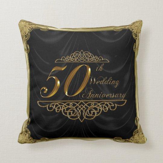 50th Wedding Anniversary Gift Etiquette: 50th Wedding Anniversary Throw Pillow