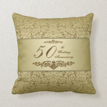 50th Wedding Anniversary Throw Pillow