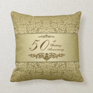 50th Wedding Anniversary Throw Pillow at Zazzle