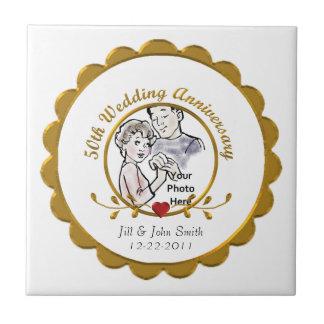 50th Wedding Anniversary Tile Ceramic Tile