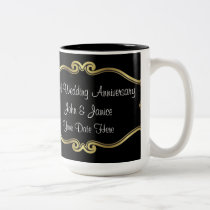 50th Wedding Anniversary Two-Tone Coffee Mug