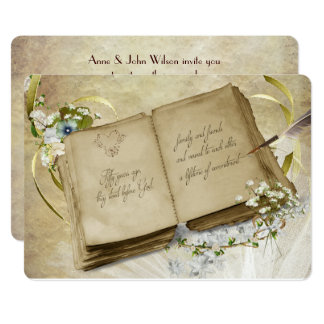 50th Wedding Anniversary Vintage Vow Renewal Card