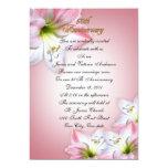 50th Wedding anniversary vow renewal pink amarylis Invites