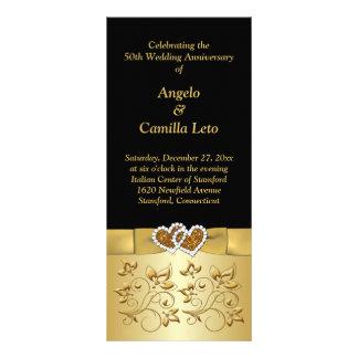 50th Wedding Anniversary Vow Renewal Program Rack Card