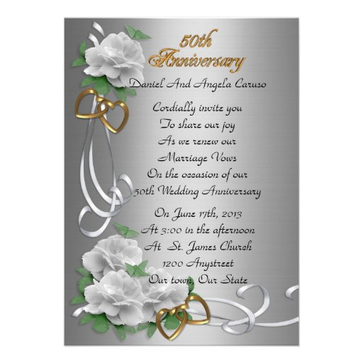 Personalized Wedding Vow Renewal Invitations