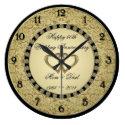 50th Wedding Anniversary Wall Clock (<em>$33.10</em>)