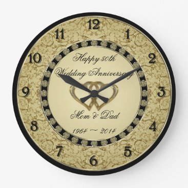 Digitalbcon 50th Wedding Anniversary Wall Clock