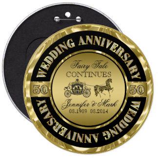 50th Wedding Anniversary-Wedding Horse & Carriage Button