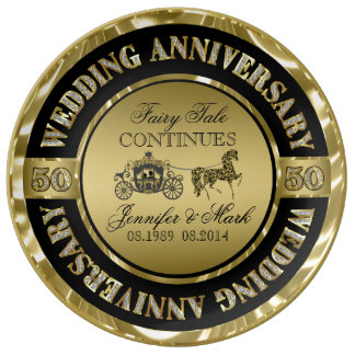 50th Wedding Anniversary-Wedding Horse & Carriage Porcelain Plate