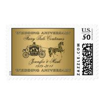 50th Wedding Anniversary-Wedding Horse & Carriage Postage