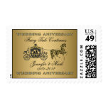 50th Wedding Anniversary-Wedding Horse & Carriage Stamps