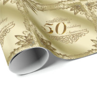 50th Wedding Anniversary Wrapping Paper