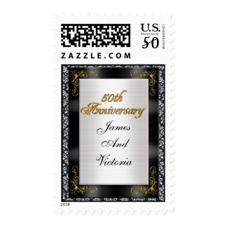 50th wedding anniversay personalized stamp