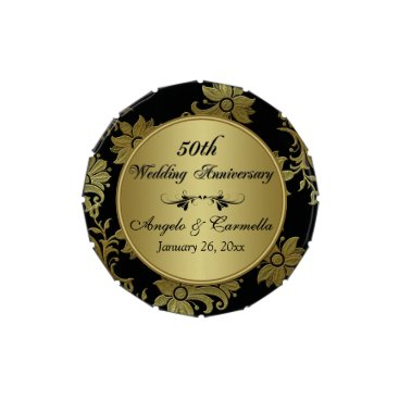 50th Wedding Anniversray Party Favor Candy Tin