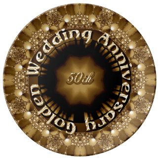 50th Wedding Anniversry Decorative Porcelain Plate