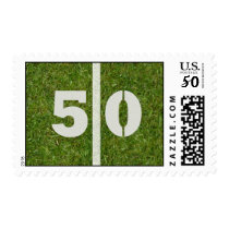 50th Yard Football Yard Postage