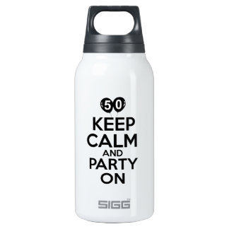 50th year birthday designs insulated water bottle