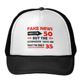 50th year old birthday gifts trucker hat