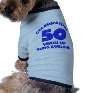 50th year old designs doggie shirt
