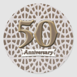 50thanniversary3 classic round sticker