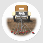 50thanniversaryt-shirts3 classic round sticker