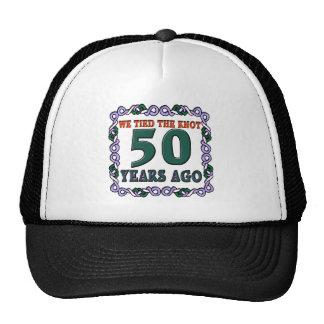50thweddinganniversary trucker hat