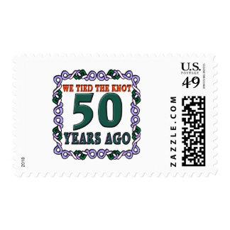 50thweddinganniversary postage stamp