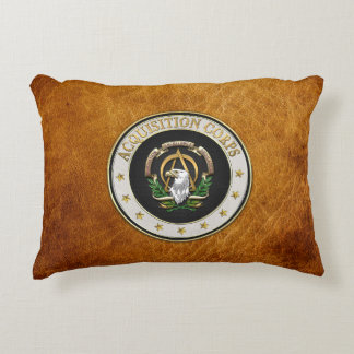 [510] Acquisition Corps (AAC) Branch Insignia [3D] Decorative Pillow