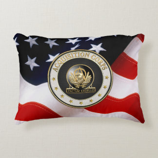 [510] Acquisition Corps (AAC) Regimental Insignia Accent Pillow