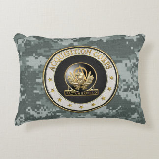 [510] Acquisition Corps (AAC) Regimental Insignia Decorative Pillow