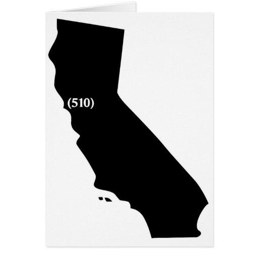 510 Area Code, California, Bay Area Card