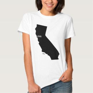 510 Area Code, California, Bay Area T Shirt