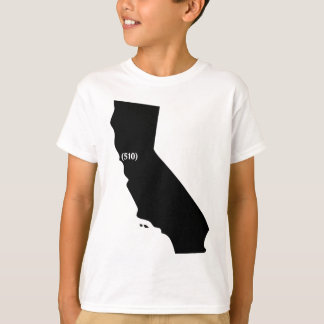 510 Area Code, California, Bay Area T-Shirt