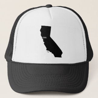 510 Area Code, California, Bay Area Trucker Hat
