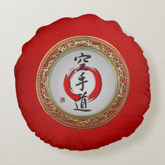 [510] Japanese calligraphy - Karate-do Round Pillow
