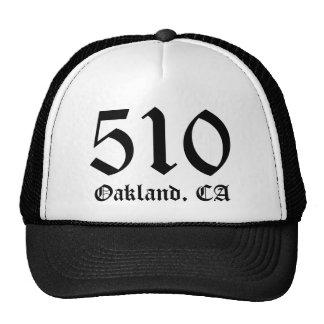 """""""510"""" Oakland, CA Hat"""