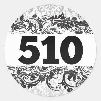 510 CLASSIC ROUND STICKER