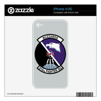 510th Fighter Squadron - Buzzards Skins For The iPhone 4S