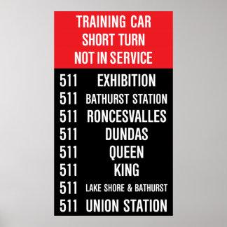 511 BATHURST Replica TTC Streetcar Rollsign Poster