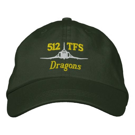 512 TFS F-4 Golf Hat Embroidered Baseball Cap