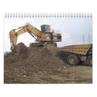 5130 excavadores/camión volquete, equipo pesado calendario de pared