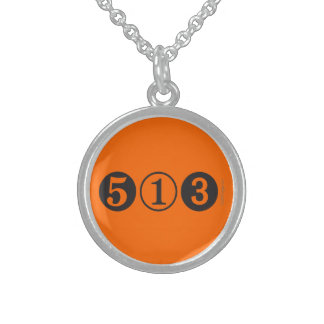 513 Area Code Sterling Silver Necklace