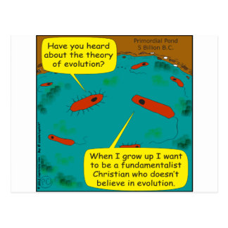 513 evolve into fundamentalist cartoon postcard