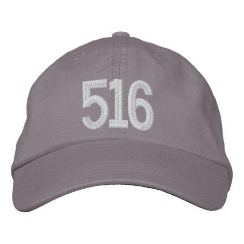 516 _ Long Island Area Code Embroidered Baseball Cap