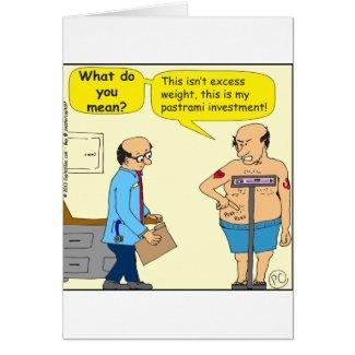 516 pastrami investment cartoon greeting card