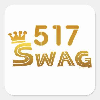 517 Michigan Swag Square Sticker