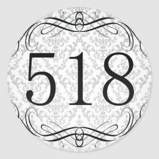 518 Area Code Classic Round Sticker