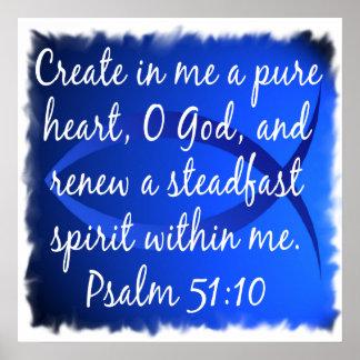 51:10 del salmo póster