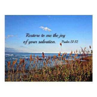51:12 del salmo tarjeta postal